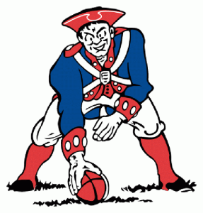 The original Patriot Pat logo designed by Phil Bissell, 1961.