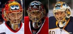 Modern day hockey masks