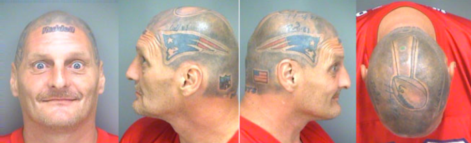 There really is no better place for a helmet tattoo.